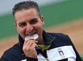 Rio de Janeiro, 10 agosto 2016 XXXI Olimpiadi Rio 2016. Shooting double trap. Marco Innocenti vince la medaglia d'argento. Foto di Simone Ferraro / GMT