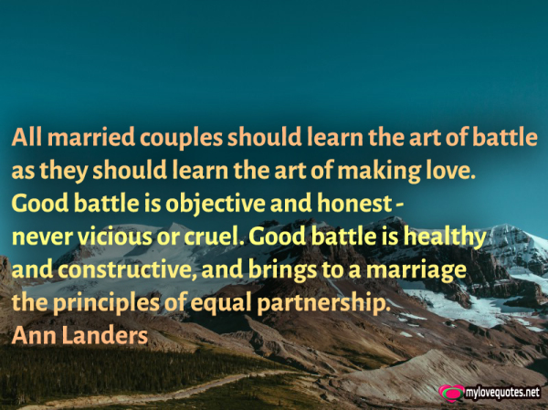 all married couples should learn the art of battle