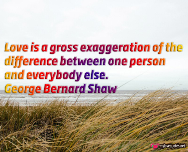 love is a gross exaggeration of the difference