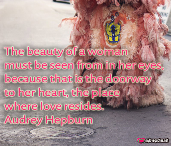 the beauty of a woman must be seen