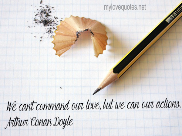 we can't command our love