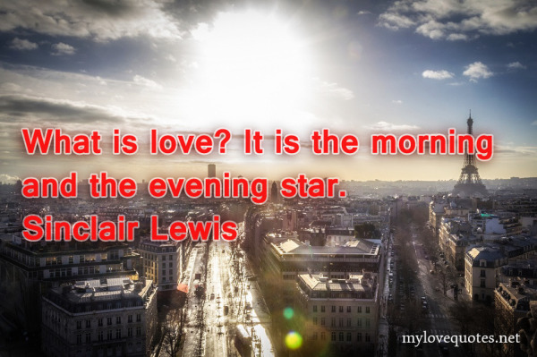 what is love it is the morning