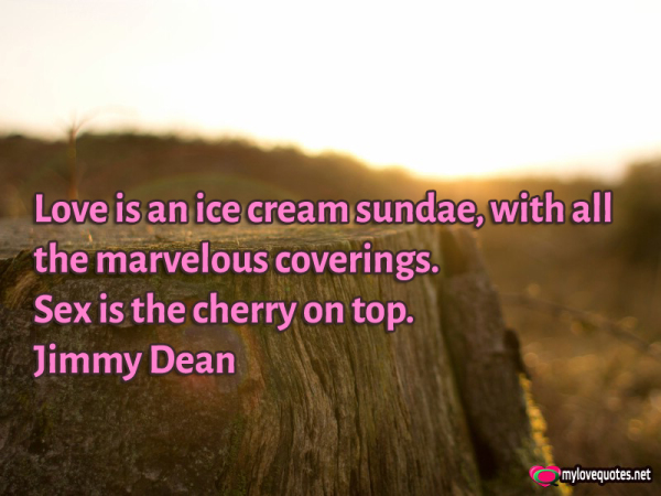 love is an ice icream sundae with all