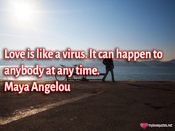 love is like a virus it can happen to anybody