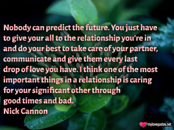 nobody can predict the future you just have