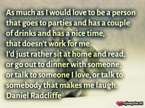 as much as i would love to be a person that goes to parties