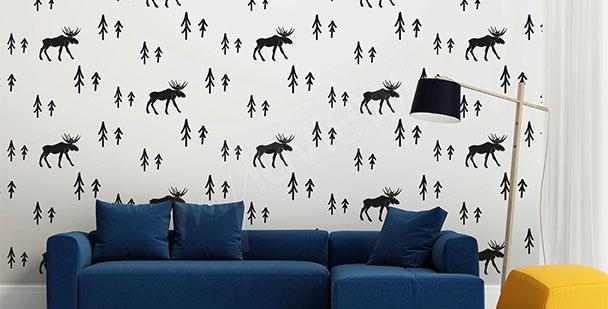papiers peints style scandinave mur aux dimensions myloview fr