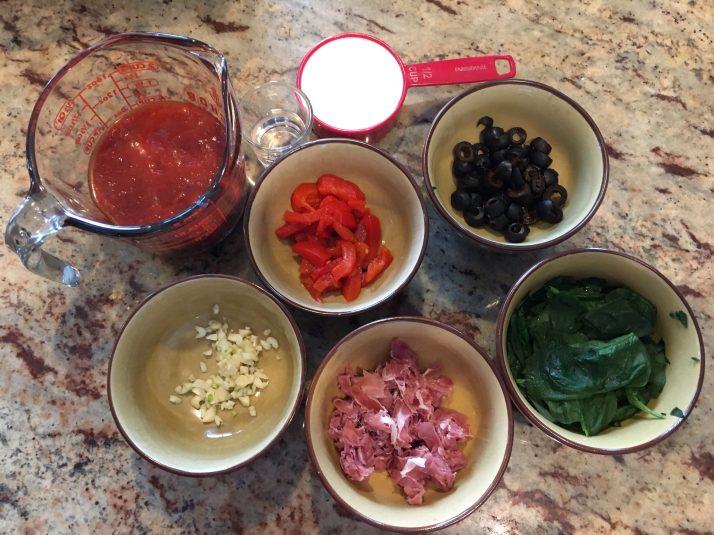 Marinara and veggies