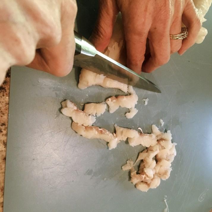 Chopping Haddock