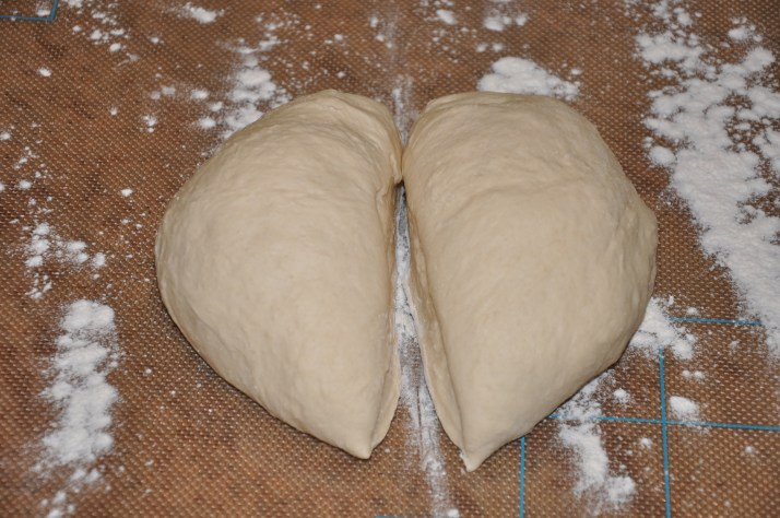 cut in pizza dough