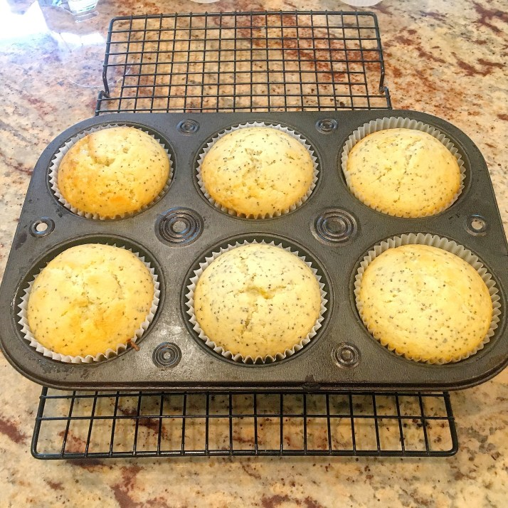Bake for 25-30 minutes or until toothpick comes out clean. Let cool on a baking rack before glazing.