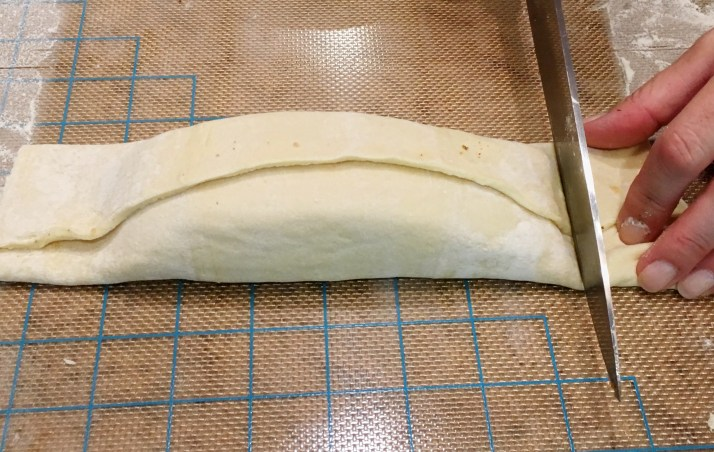 Cut off excess dough of pastry