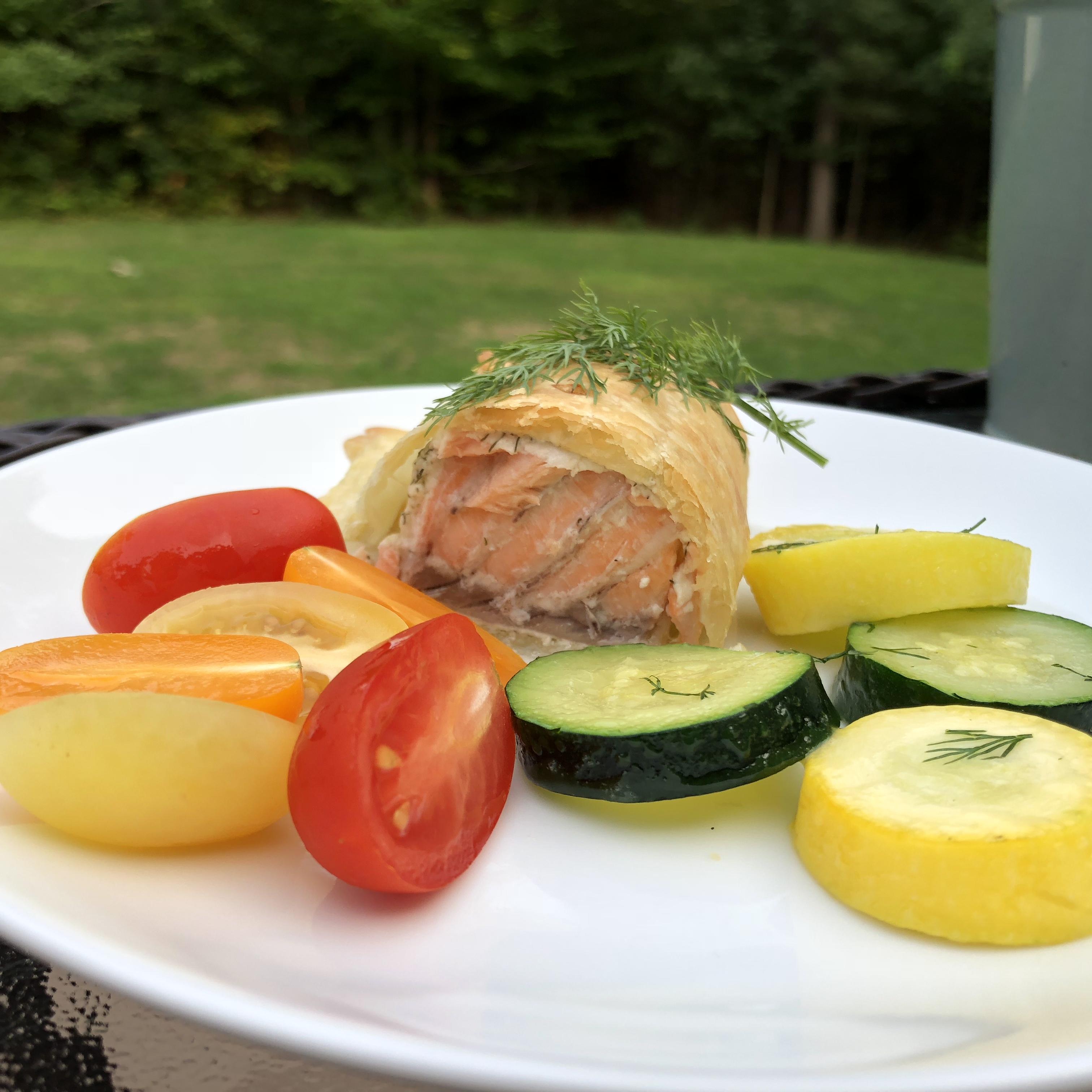 Flaky Salmon Pie via @susanmylovingoven.com