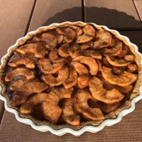 Apple Custard Caramel Tart Recipe- A Taste of Heaven!