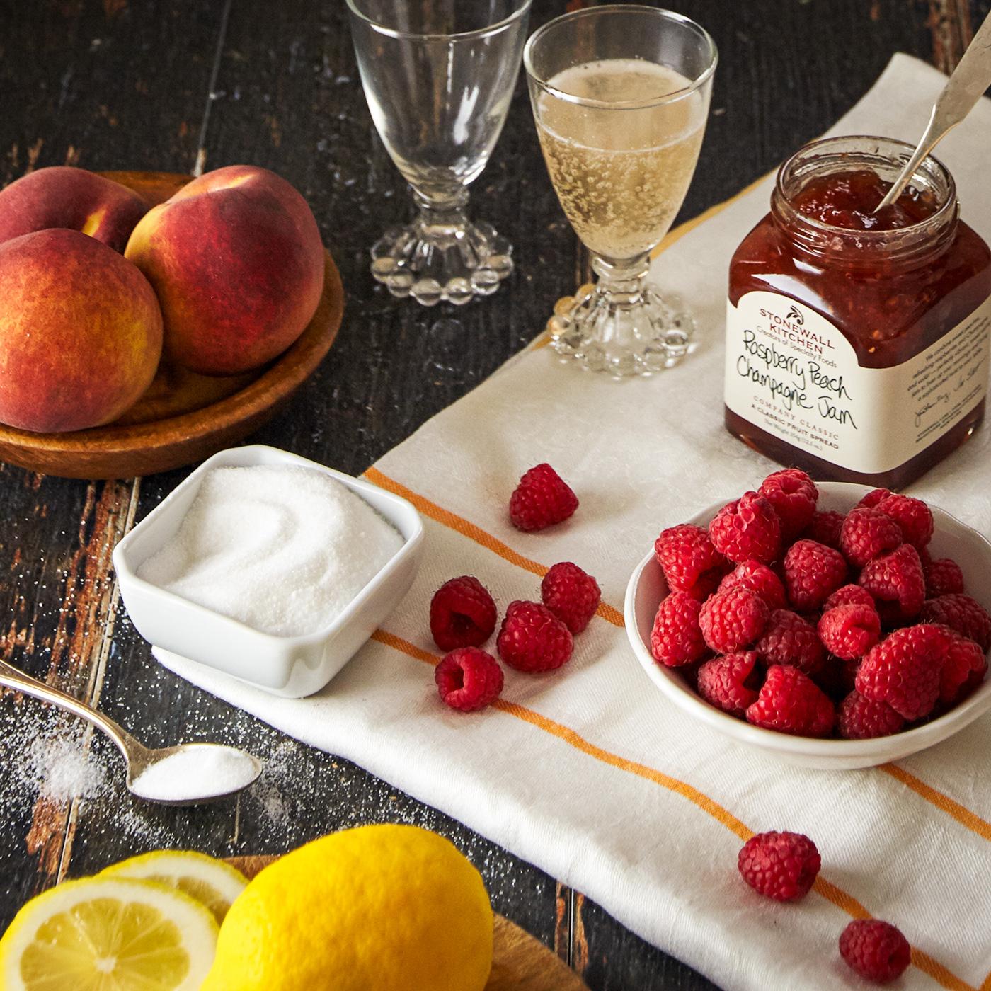 Raspberry Peach Champagne Jam via @susanmylovingoven.com