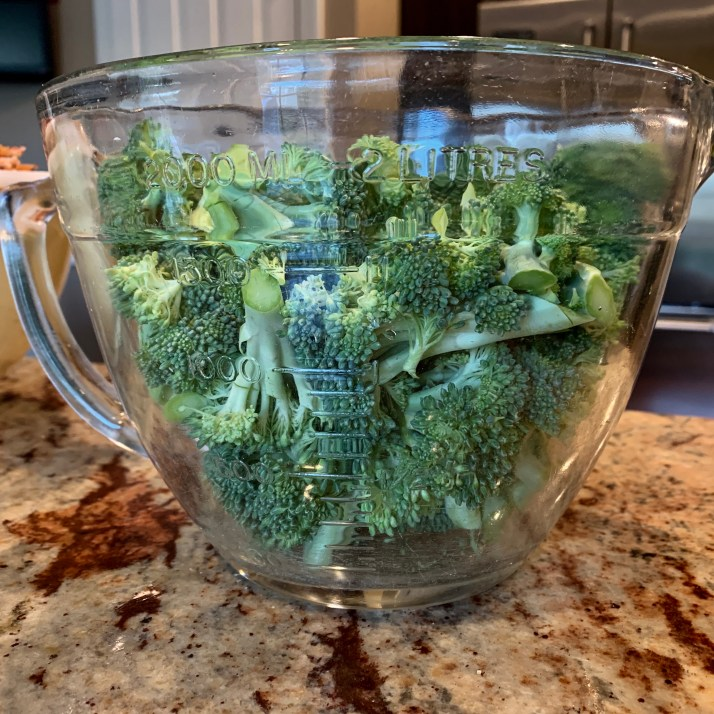cut broccoli into florets