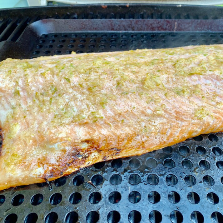 close the barbecue lid and cook for 15 minutes, or until fish flakes with a fork Enjoy!