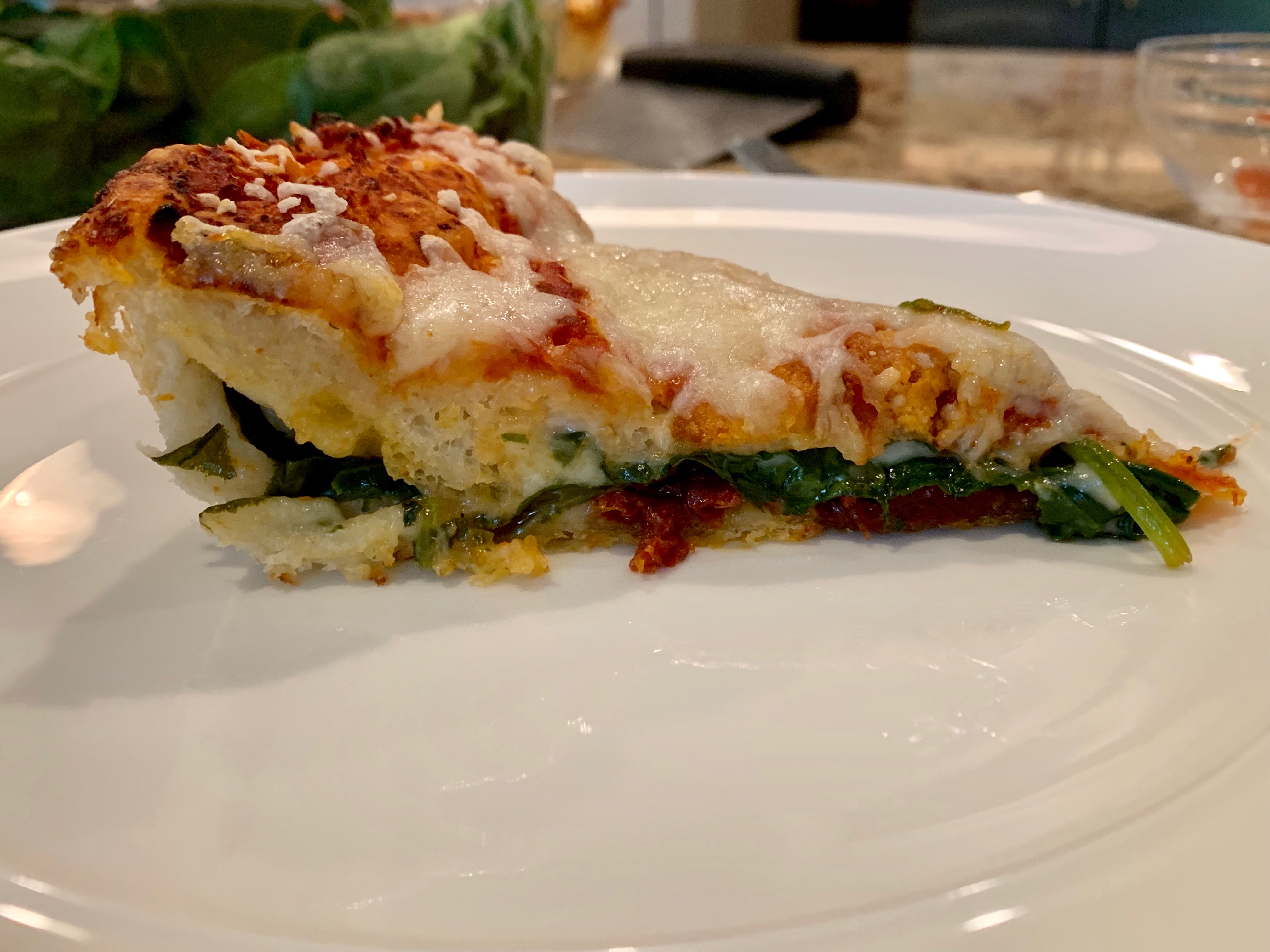 Spinach & Sun-dried Tomato Stuffed Pizza…Mangiamo! via @susanmylovingoven.com