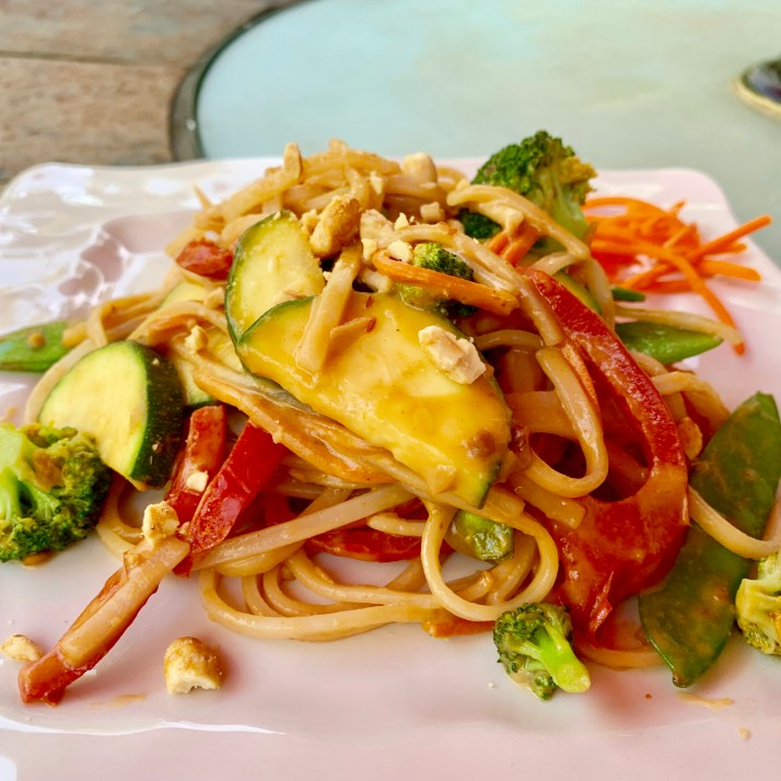 Spicy Pad Thai Noodles with Vegetables