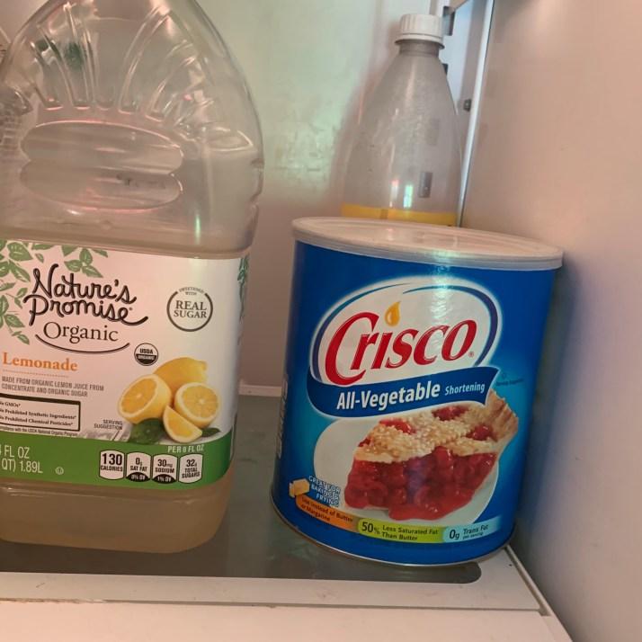 Crisco in the fridge