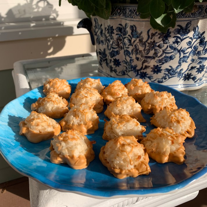 Chewy and sweet coconut butterscotch macaroons