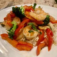 Spicy Shrimp Stir Fry with Basil