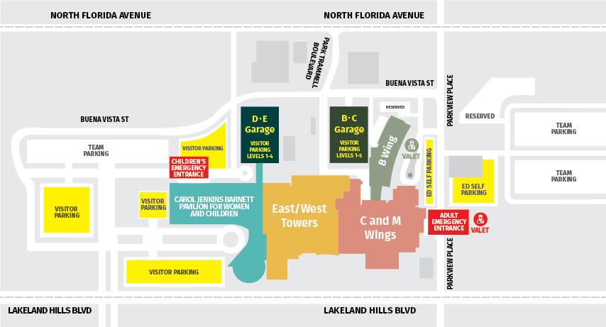 Parking  Lakeland Regional Health
