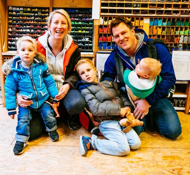 Foto met 3 kinderen
