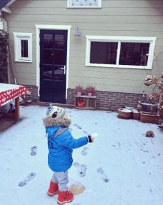 Kees in de sneeuw