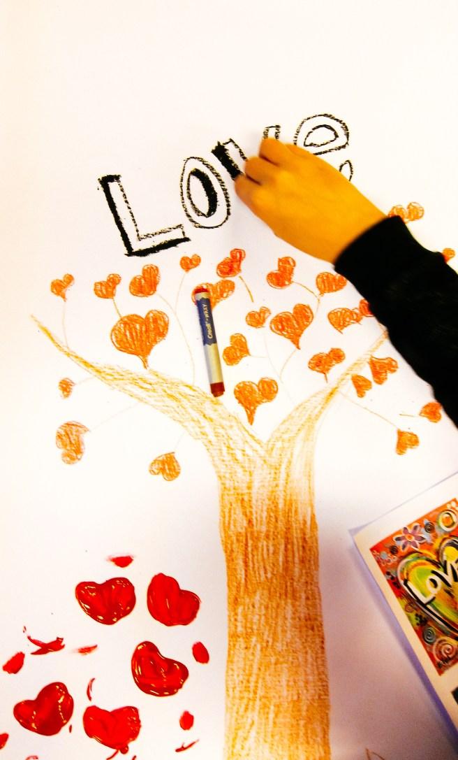 Hartjes boom schilderen