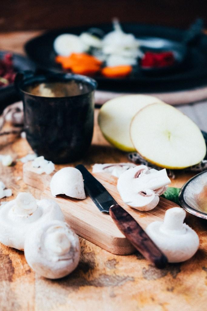 gerecht met appel en gehakt