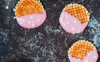 koekjes met roze en hartjes
