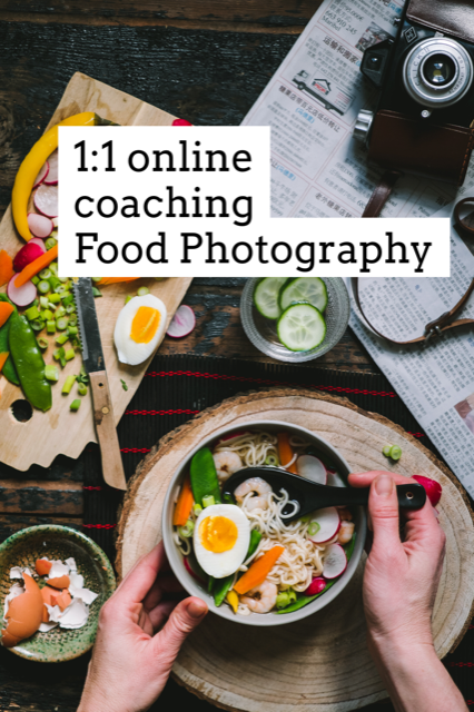 1: 1 coaching food photography