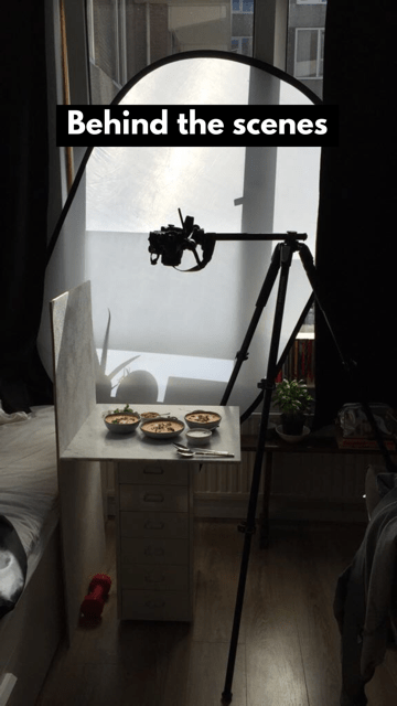 behind the scenes food photography