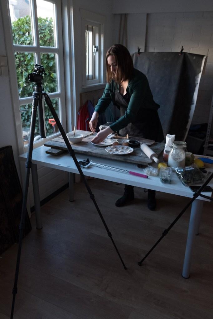 set opbouwen bij fotograferen recept