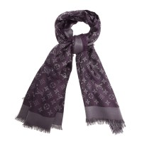 LOUIS VUITTON PURPLE MONOGRAM WOOL & SILK SHAWL - My ...