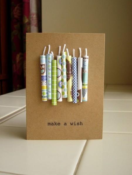 Nến giấy đơn giản và đẹp