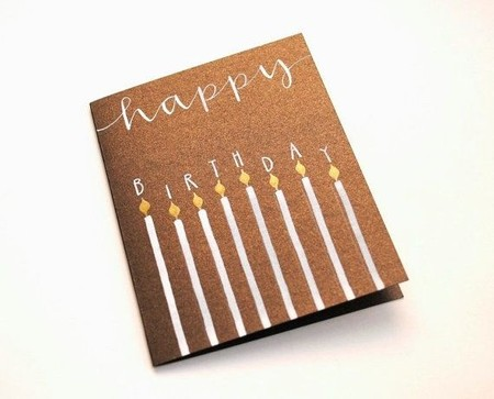 Gorgeous Candle Card.