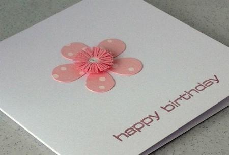 بطاقة المعايدة مع زهرة لطيفة