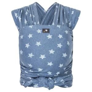 Elastisches Tragetuch – blau mit Sternen