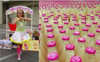 Vivienne Harr, first to commercially bottle her own lemonade stand lemonade for retail sale.