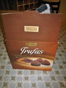 My lovely Mother-in-Law came back from holiday with some of these delicious truffles :)