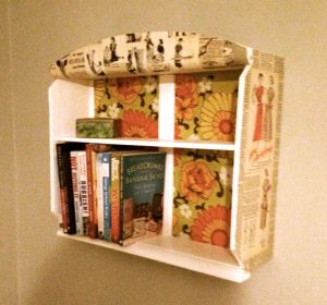 And on the wall, looking more like a shelf!