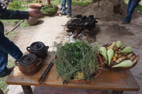 The ingredients for our traditional Pachamanca lunch