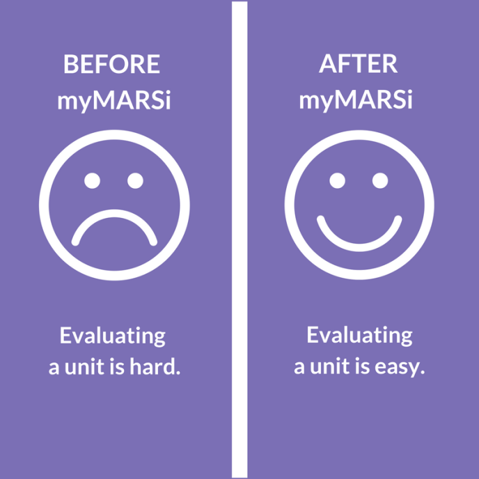 smiley and frown face before and after using MyMARSi
