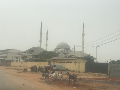 The Accra Central Mosque during Harmattan Accra