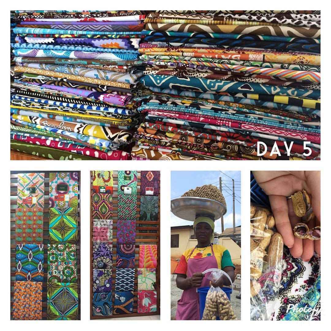 African wax fabric at Woodin in Accra Ghana