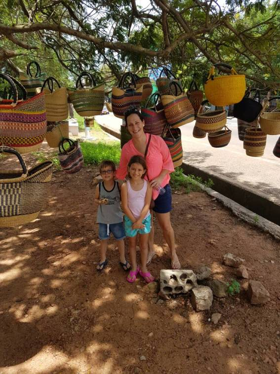 First week of living as expats in Accra Ghana. Shopping for beautiful woven baskets.