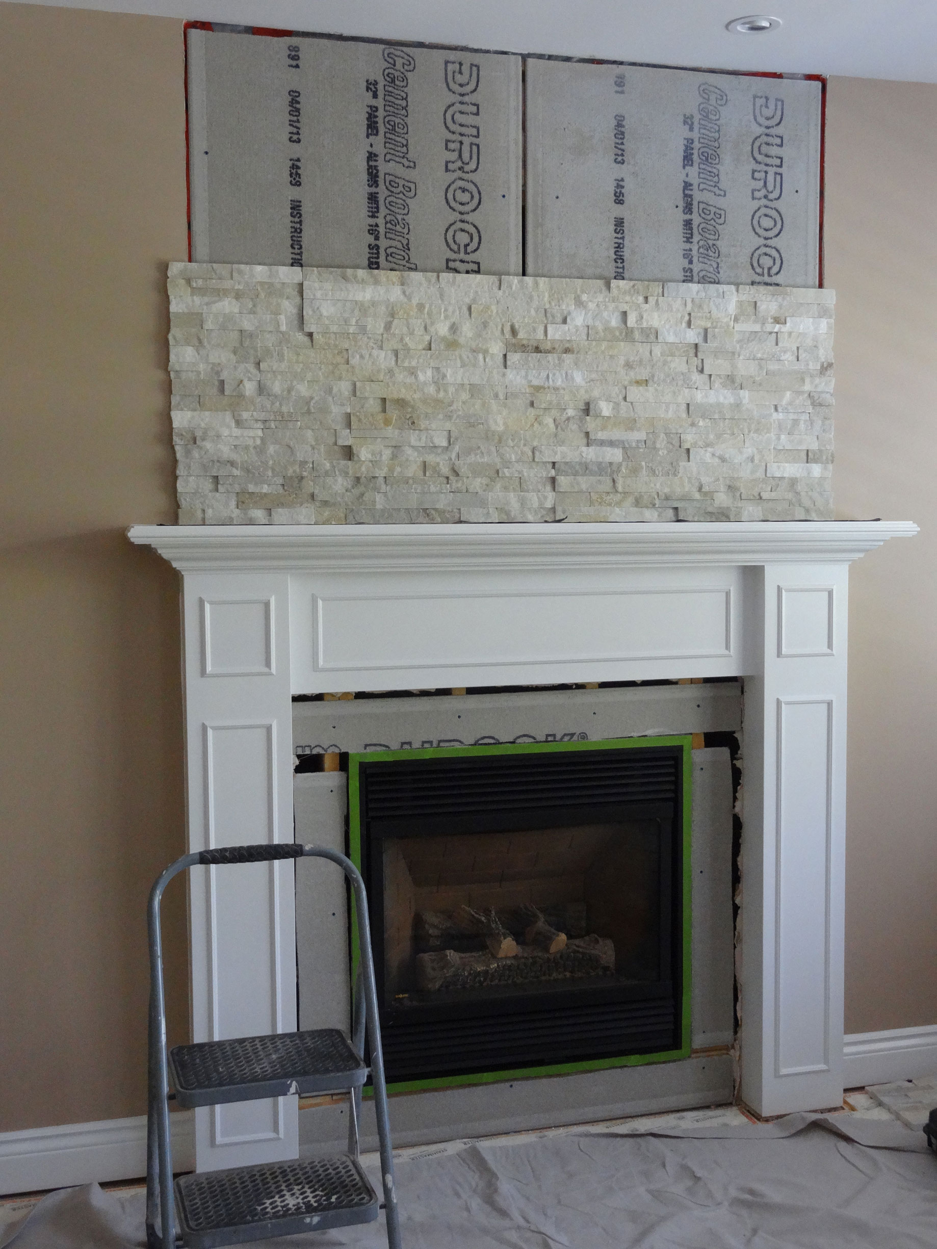 Gas Fireplace Surround Plans Fireplace Restructuring From Wood To Gas - Ottawa Case