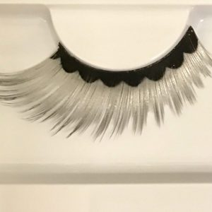 black and silver false eyelashes